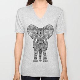 BLACK ELEPHANT Unisex V-Neck