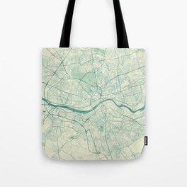 Newcastle upon Tyne Blue Vintage Tote Bag