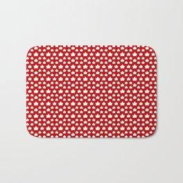 Cute Canada Flag Pattern Bath Mat