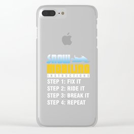 Snowmobiling Snowmobile Ski Racing Snowmachine Winter Travel Gifts Clear iPhone Case