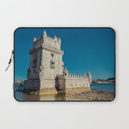 Belém Tower, Lisbon, jour nuit Laptop Sleeve