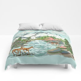 Paint by Number Mountain Medow Comforters