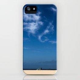 Lifeguard Tower Hermosa Beach California iPhone Case