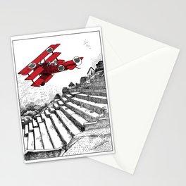 asc 114 - Le Baron Rouge & son ours Darwin (La montagne où tombent les étoiles) Stationery Cards