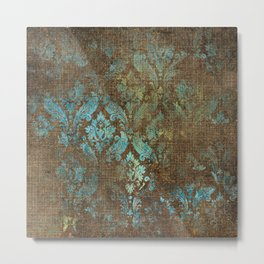 Aged Damask Texture 4 Metal Print