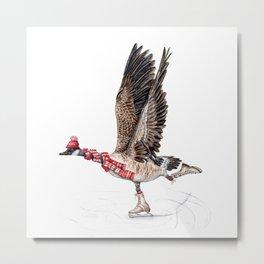 Canada Goose Figure Skating Metal Print