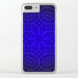 Blue Octogon Star Clear iPhone Case