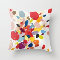 study Throw Pillows featuring Color Study No. 2 by Emily Rickard