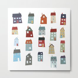 Little Houses Metal Print