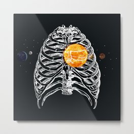 SOLAR HEART - HELIOCENTRICISM Metal Print