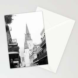 French Quarter Foggy Morning - New Orleans Stationery Cards