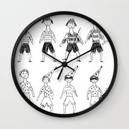 Several character variations by child Wall Clock