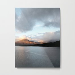 Gold - Scotland | landscape - nature - sky - mountains - outdoor - photography - photo - print Metal Print