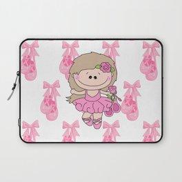 Little Ballerina in Pink Laptop Sleeve