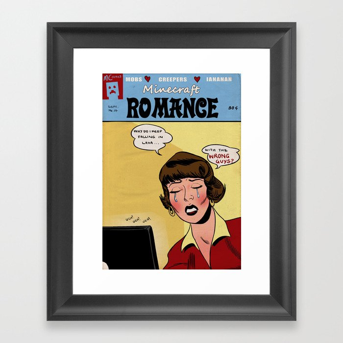 Minecraft Romance Issue #14 Framed Art Print