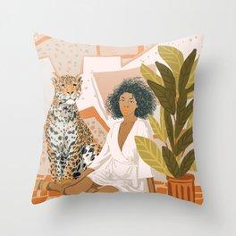 House Guest Throw Pillow