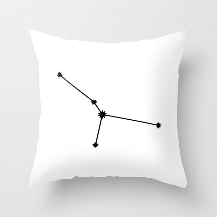 Cancer Astrology Star Sign Minimal Throw Pillow