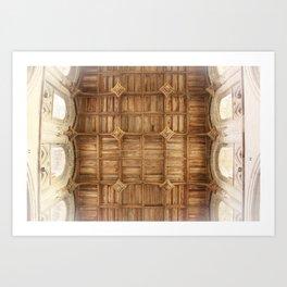 Wooden church ceiling  Art Print