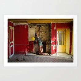 Le mystère de la chambre jaune Art Print