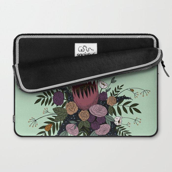 Beetles and Flowers Laptop Sleeve