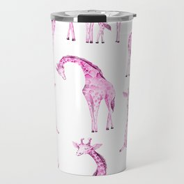 Pink Giraffes Travel Mug