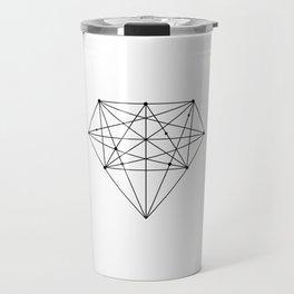 Geometric Diamond black-white poster design lowpoly fashion home decor canvas wall art Travel Mug