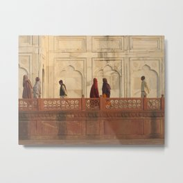 Taj Mahal Pilgrims in Agra, India (2004a) Metal Print