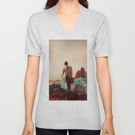 Leaving Their Cities Behind Unisex V-Neck