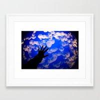 life aquatic Framed Art Prints featuring Life Aquatic by Michelle Fay