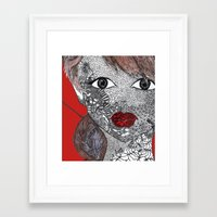 melissa smith Framed Art Prints featuring Melissa by Mridula  Basak
