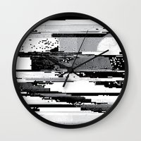 glitch Wall Clocks featuring Glitch by poindexterity