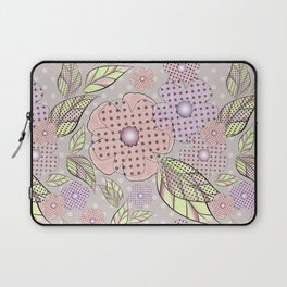 Flowers in polka dots. Laptop Sleeve