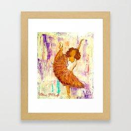Ballerina No.1 (Tribute to Misty Copeland) Framed Art Print