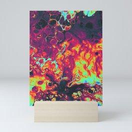 trippy colors psycheledic artwork Mini Art Print