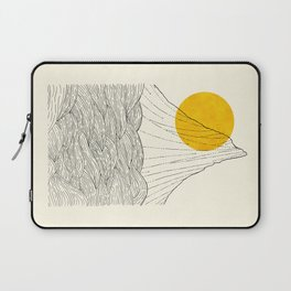 The tall cliff by the sea Laptop Sleeve