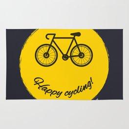 Happy cycling Rug