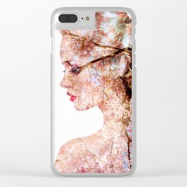 Spring girl Clear iPhone Case
