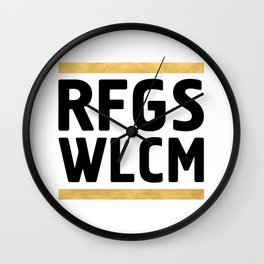 RFGS WLCM - Refugees Welcome Wall Clock