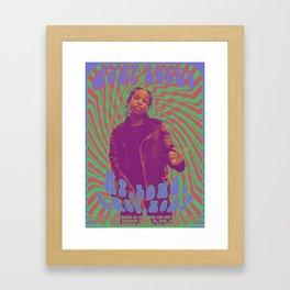 Psychodelic Hip-Hop Poster Series / A$AP Rocky Framed Art Print