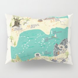 Princess Bride Discovery Map Pillow Sham