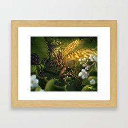 Fairy and blackberry Framed Art Print