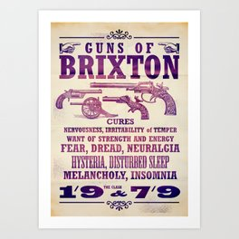 The Clash - Guns of Brixton Art Print