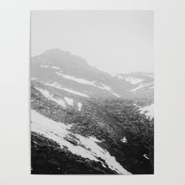 Wintry mountains Poster