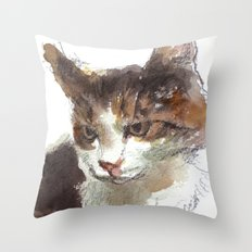 cat 013 Throw Pillow