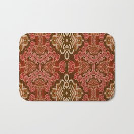 Celtic and Mayan Inspired Neotribal Print Bath Mat