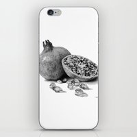 pomegranate iPhone & iPod Skins featuring Pomegranate by Darkensian
