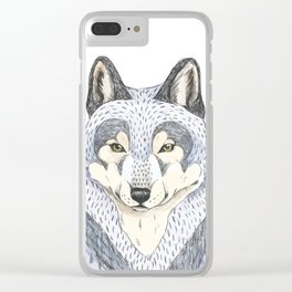 Woodlands wolf Clear iPhone Case