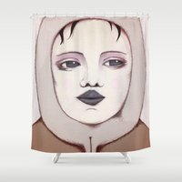 hunter Shower Curtains featuring Hunter by IOSQ