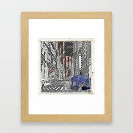Elephant in New York Picture Framed Art Print
