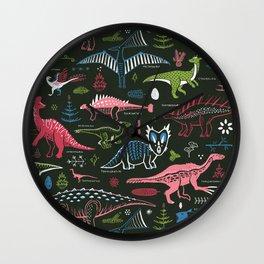 B-List Dinosaurs Wall Clock